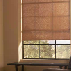 roller shade with hundreds of fabric choices sheers to opaques patterns to textures and traditional solid colors